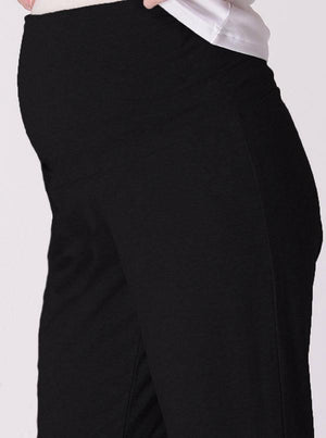 Maternity Soft Luxe Lounge Pants in Black - Angel Maternity - Maternity clothes - shop online