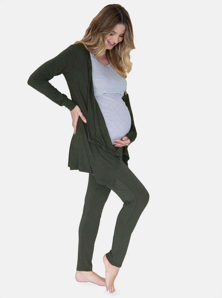 """Street to Home"" Maternity 3 Piece Relax Outfit in Khaki"