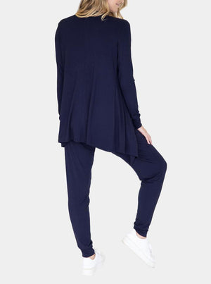 """Street to Home"" Maternity 3 Piece Relax Outfit in Navy back"