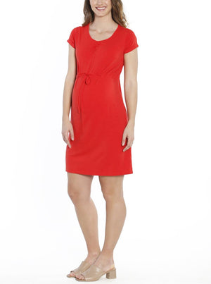 TMD - The Mummy Drawstring Dress - Chili Red