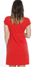TMD - The Mummy Drawstring Dress - Chili Red - Angel Maternity - Maternity clothes - shop online