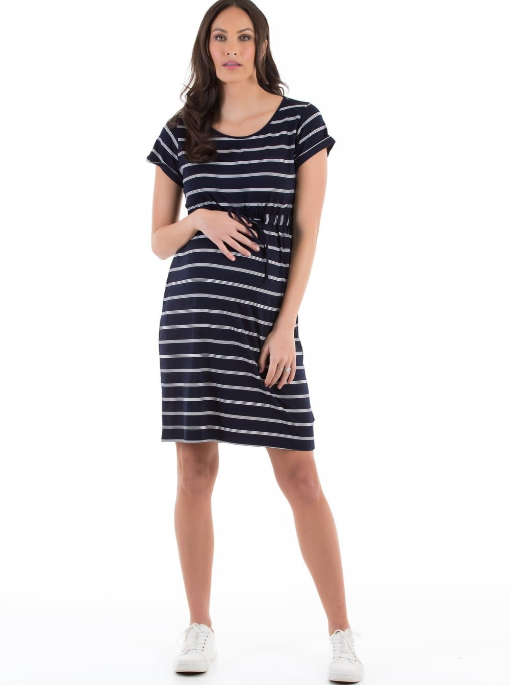 maternity drawstring dress