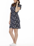TMD - The Mummy Drawstring Dress - Floral Print - Angel Maternity - Maternity clothes - shop online