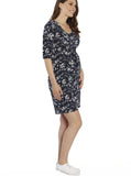 Ruby Joy - The Mummy Drawstring Dress - Floral Print - Angel Maternity - Maternity clothes - shop online