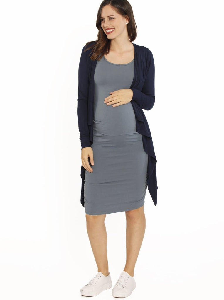 Bamboo Story Body Hugging Maternity Dress - Powder Blue sydney online store