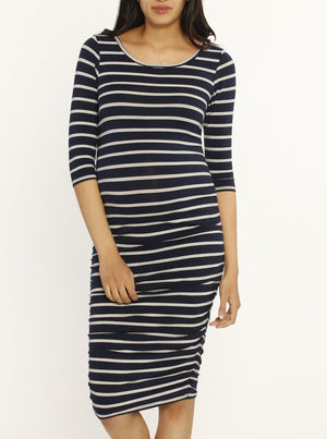 Bamboo Body Hugging Maternity Half Sleeve Dress