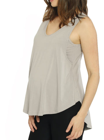 Ruby Joy - The Swing Tank with Nursing Opening - White