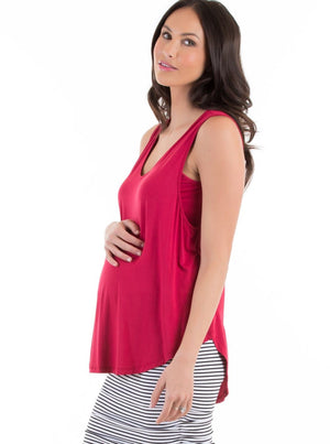 Maternity Swing Tank with Nursing Opening red
