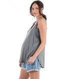 Swing Tank with Nursing Opening - Khaki
