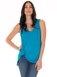 The Maternity Summer Nursing Tank - Blue