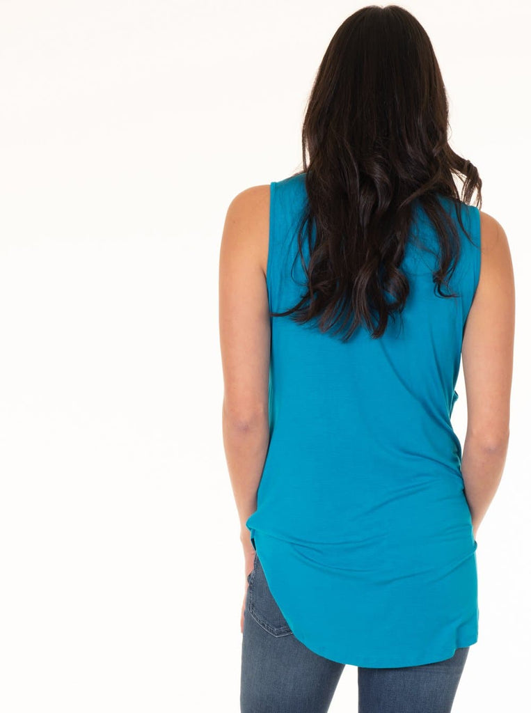 The Maternity Swing Tank with Nursing Opening - Blue
