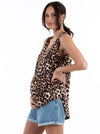 Maternity Swing Tank with Nursing Opening - Leopard