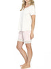 Maternity & Nursing Summer PJ Set - Pink/ Grey maternity online store