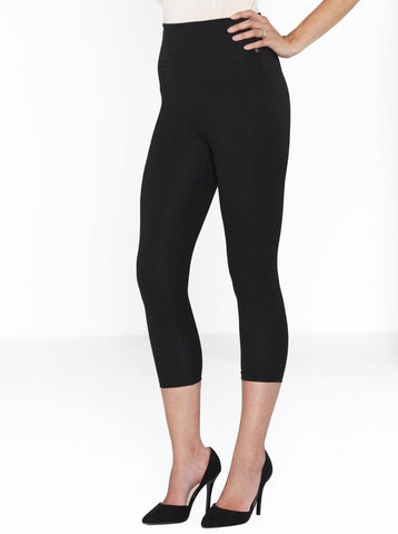 Mid Waist Maternity Straight Leg Pants in Black