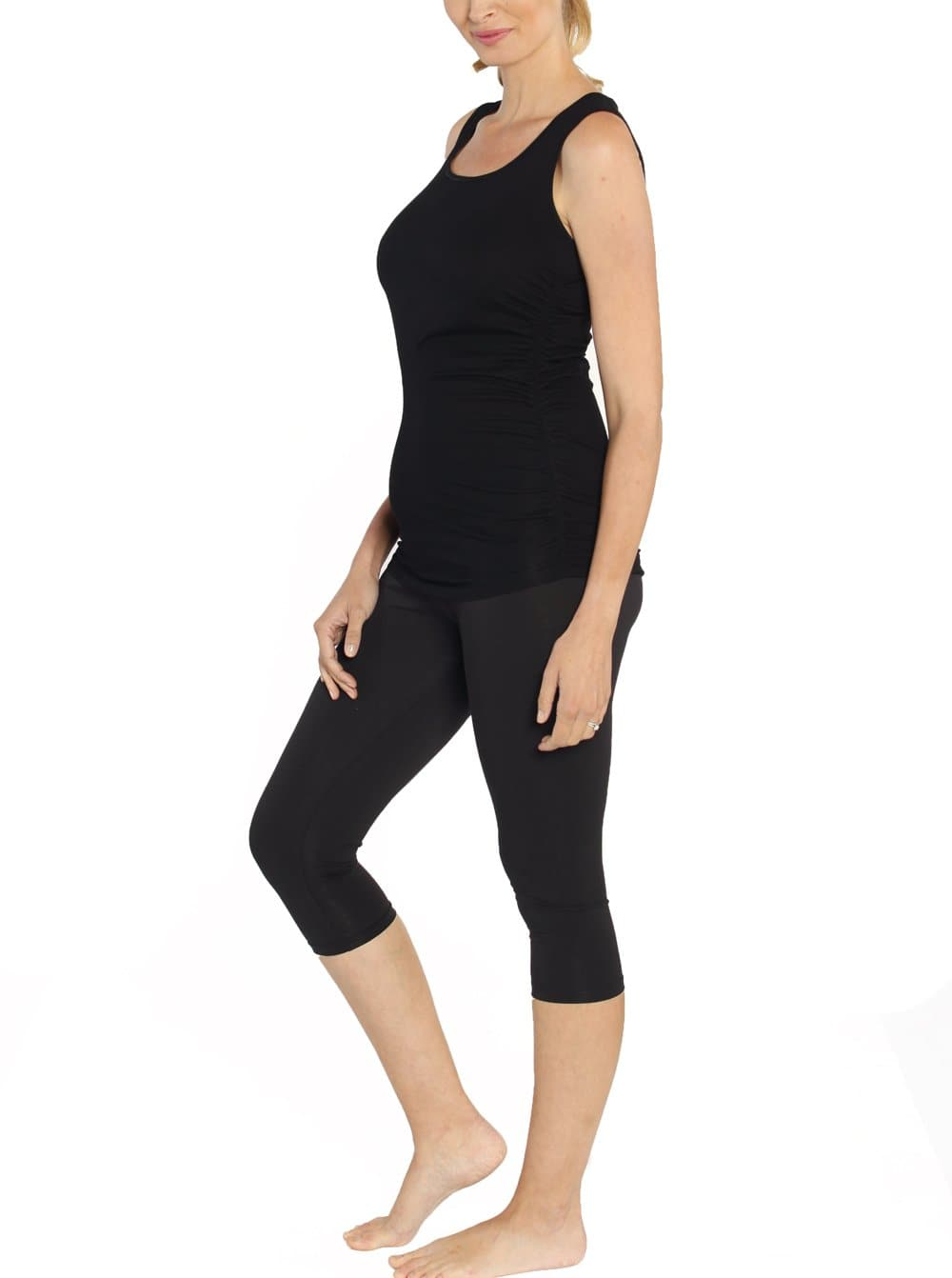Postnatal Tummy Tight Control Capri Built-In Shaping 3/4 Legging