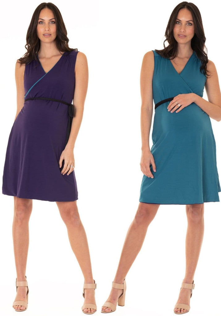 reversible wrap maternity dress