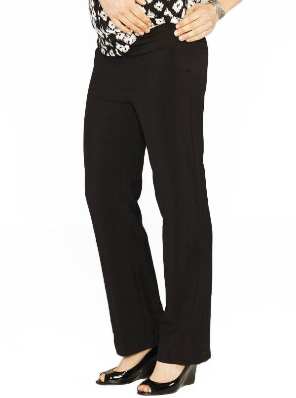 Angel Maternity Pants in Straight Cut - Black