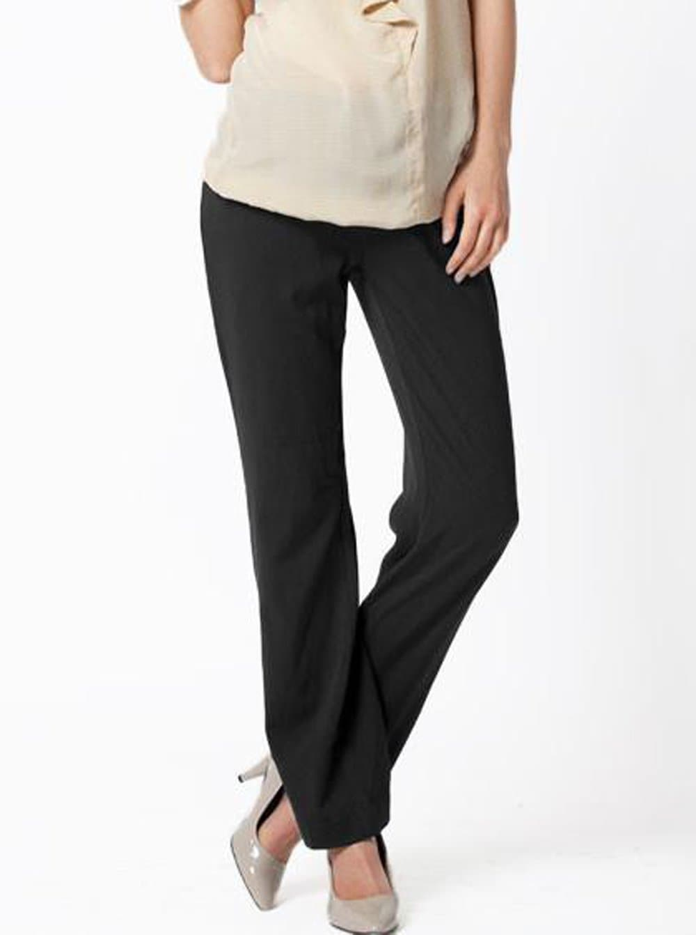 Maternity Pants in Straight Cut - Dark Grey - Angel Maternity - Maternity clothes - shop online