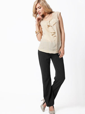 Maternity straight cut work pants