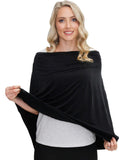 5 Ways Bamboo Collection Poncho - Black - Angel Maternity Online Store