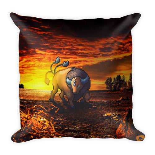 Pixelmon Square Pillow - Tauros