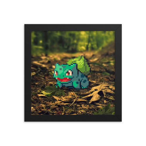 Pixelmon Framed poster - Bulbasaur