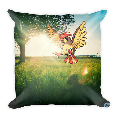 Pixelmon Square Pillow - Pidgeotto