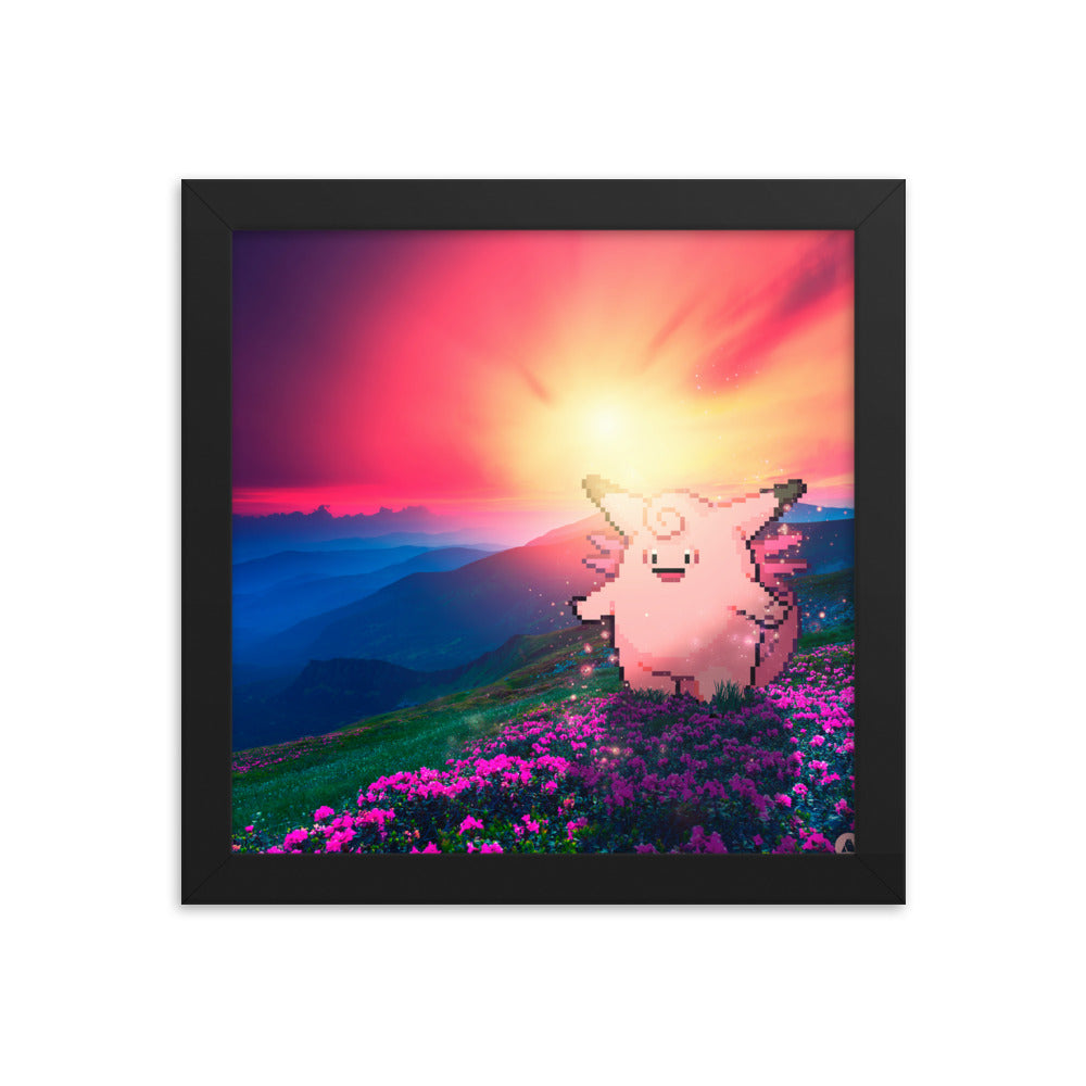 Pixelmon Framed poster - Clefable