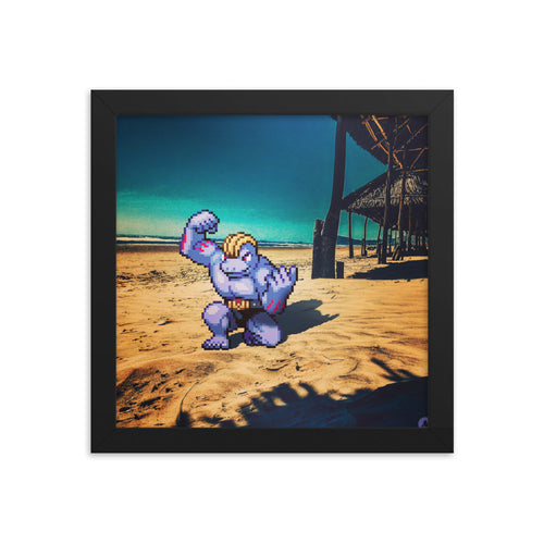 Pixelmon Framed poster - Machoke