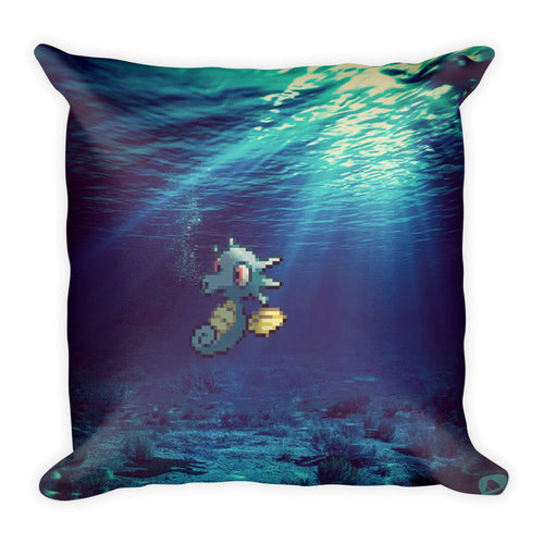 Pixelmon Square Pillow - Horsea