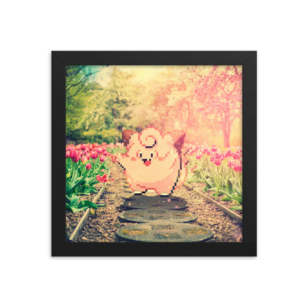 Pixelmon Framed poster - Clefairy