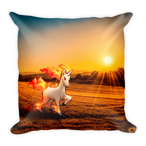 Pixelmon Square Pillow - Rapidash