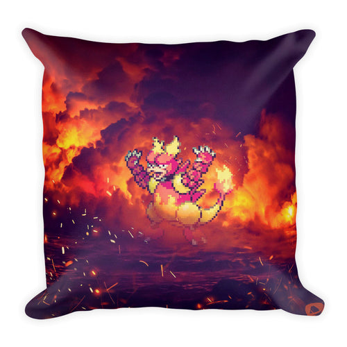 Pixelmon Square Pillow - Magmar