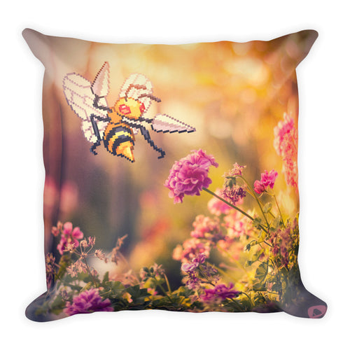 Pixelmon Square Pillow - Beedrill