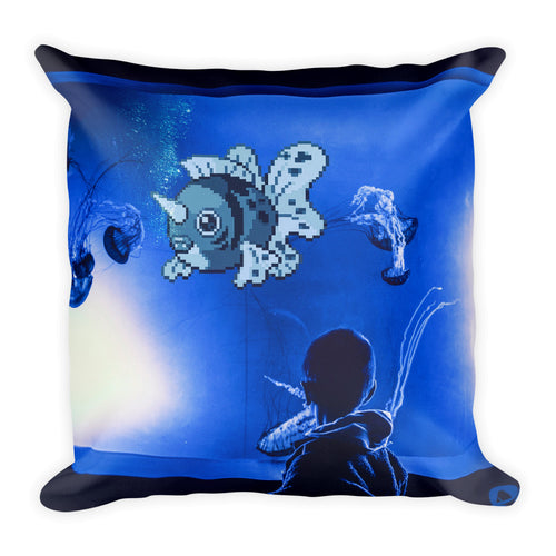 Pixelmon Square Pillow - Seaking