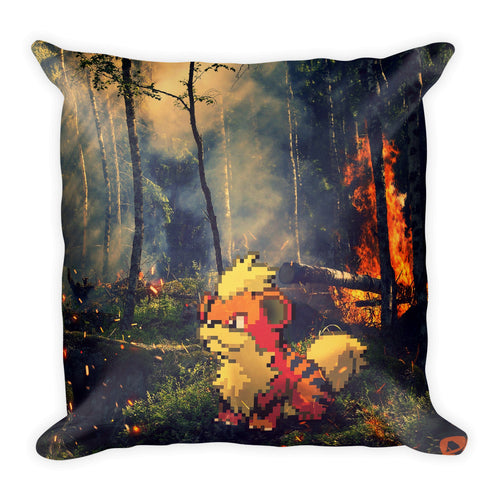 Pixelmon Square Pillow - Growlithe