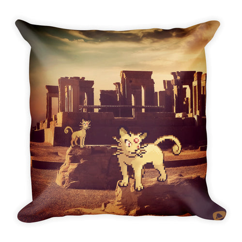 Pixelmon Square Pillow - Persian