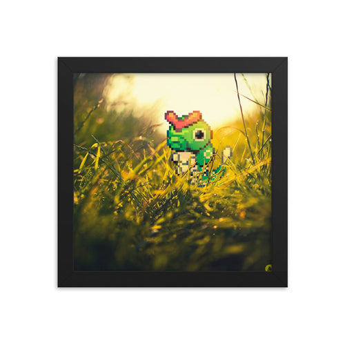 Pixelmon Framed poster - Caterpie