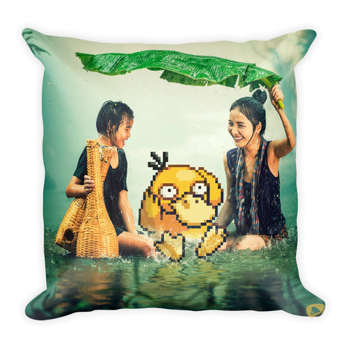 Pixelmon Square Pillow - Psyduck