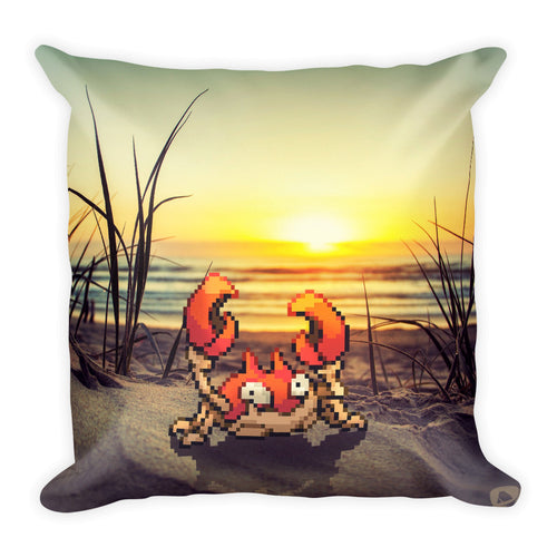 Pixelmon Square Pillow - Krabby