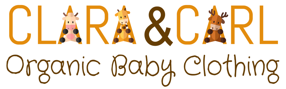 Clara and Carl organic baby clothing an online shop that only sells organic baby clothing made fair trade.