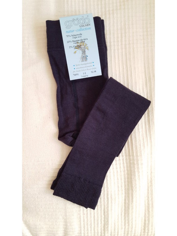 Merino Wool Leggings navy
