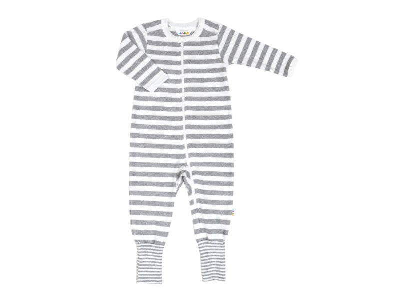 Jumpsuit with 2in1 foot white/grey