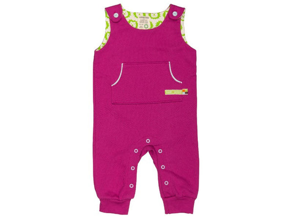 Romper fuchsia with front pocket