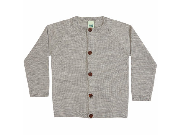 Fine Knit Cardigan Light Grey