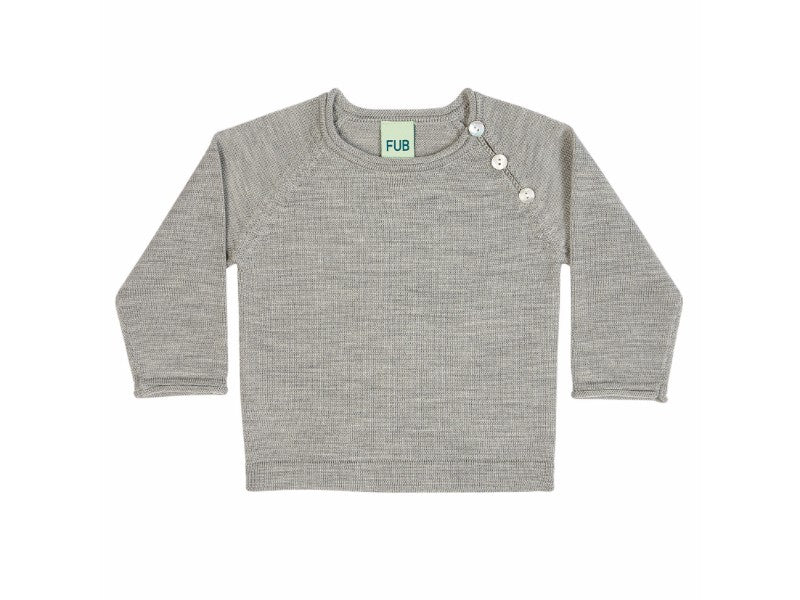 Fine Knit Jumper Light Grey