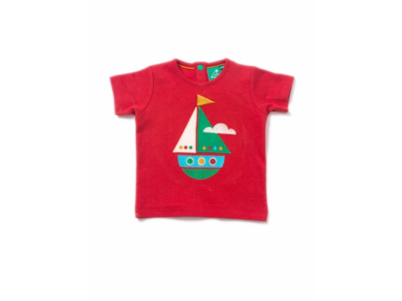 Little Boat Applique Tee