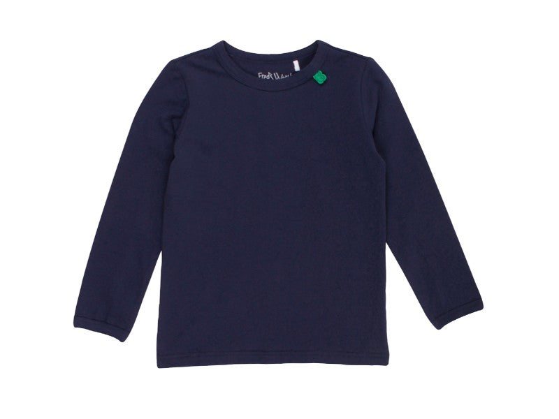 Basic Navy Long Sleeve Shirt