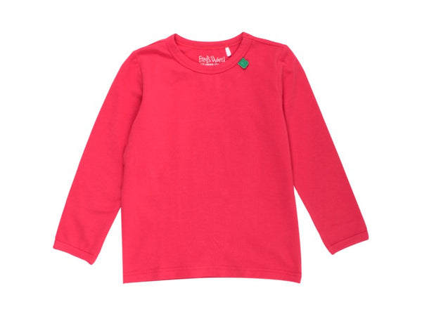 Basic Red Long Sleeve Shirt