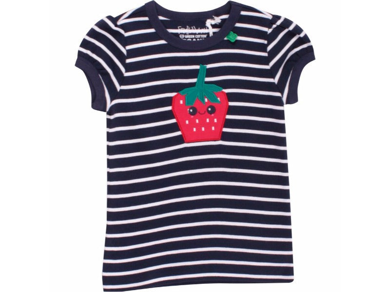 Strawberry striped T-shirt